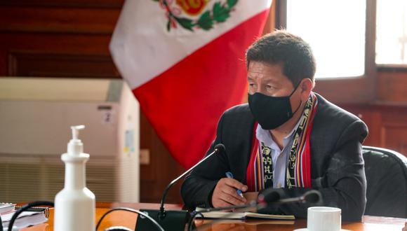 El presidente Consejo de Ministros, Guido Bellido, negó haberse reunido con César Tito Rojas, quien es dirigente del Movadef. (Foto: Archivo PCM)