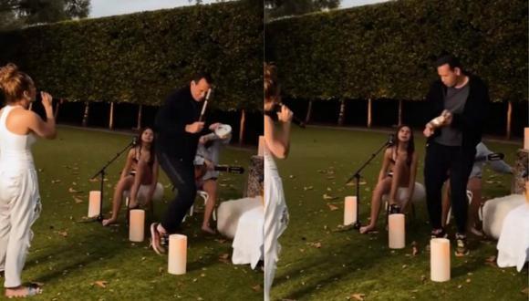 Jennifer Lopez y Álex Rodríguez se divierten bailando en familia. (Foto: Captura de video)