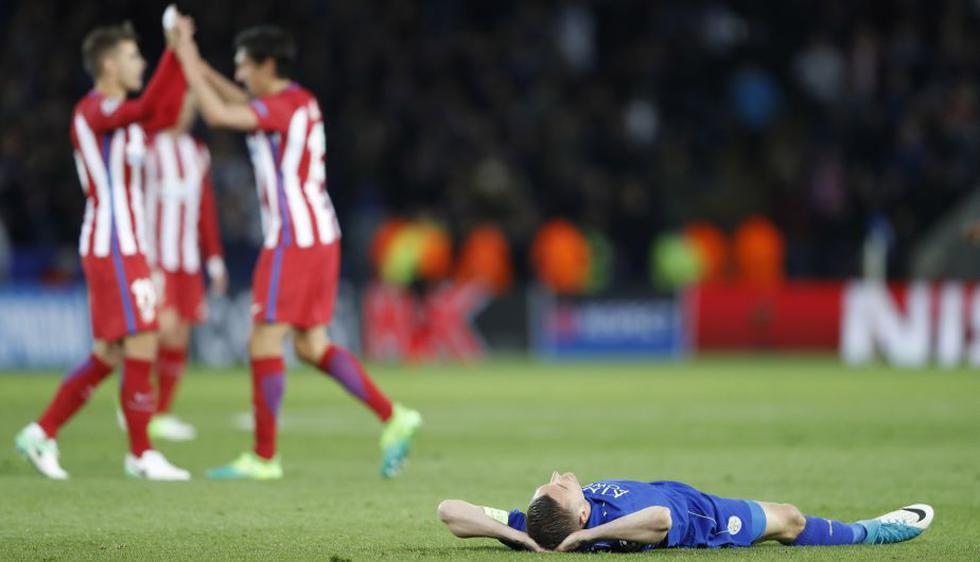 Atlético venció al Leicester por un marcador global de 2-1 y clasificó a la semifinales de Champions League. (Reuters)