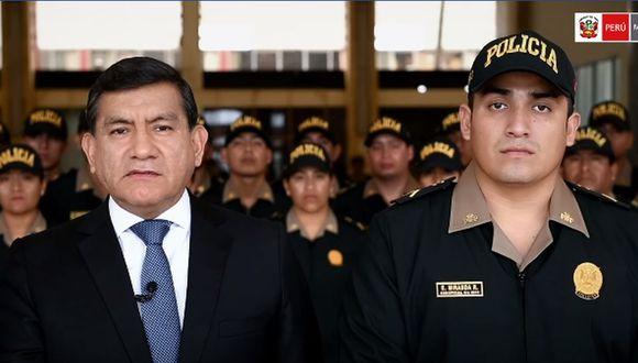 El ministro del Interior expresó su respaldo a Elvis Miranda. (Foto: Captura/Facebook)