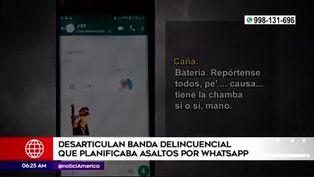Capturan a delincuentes que coordinaban asaltos por WhatsApp