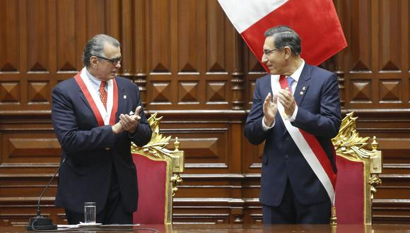 Vizcarra señaló que Olaechea solo es presidente de la Comisión Permanente, mas no del Congreso de la República. (Presidencia)