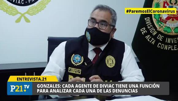 Entrevista a jefe de DIVIAC, Jorge Gonzales