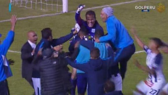 Leao Butrón le atajó el penal a Arce y le dio la victoria a Alianza Lima. (Captura: Gol Perú)