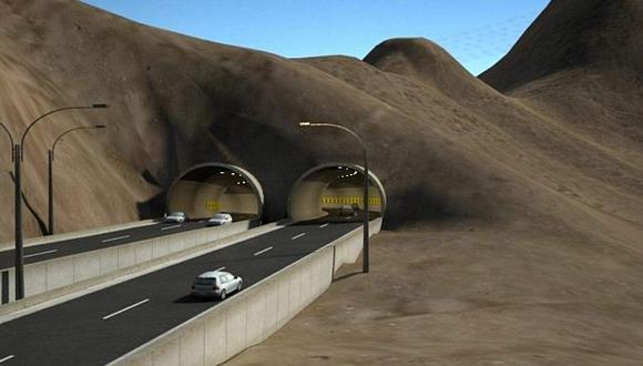 La obra atravesará el cerro Santa Rosa. (Difusión)