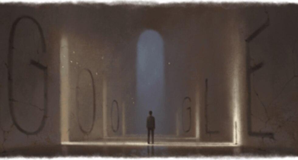 """El doodle de Ernesto Sábato fue creado por Doodler Kevin Laughlin quien confesó que se vivió cautivado por la novela """"El Túnel"""". (Captura de pantalla)"""