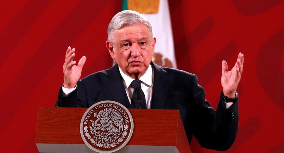 El presidente de México, Andrés Manuel López Obrador (AMLO), es visto hablando durante su conferencia de prensa matutina. (EFE/ Jorge Núñez / Archivo).