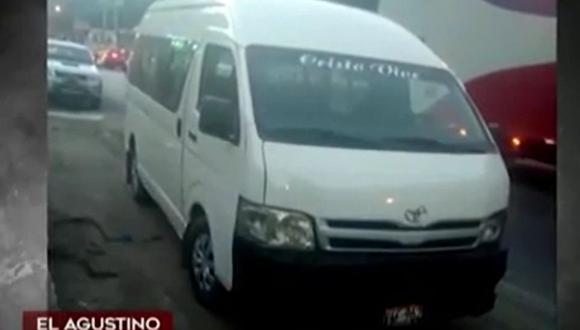 Ciudadano denuncia que su combi fue desmantelada tras recibir una sanción por una infracción que no cometió en El Agustino. (Captura: América Noticias)