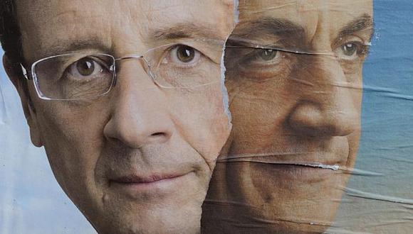 Hollande y Sarkozy dividen hoy a los franceses. (Reuters)
