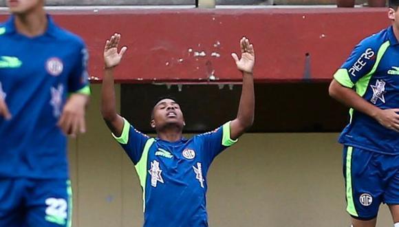 'Coco' Bazán anotó el primer gol de UTC en la temporada.  (Movistar Deportes)
