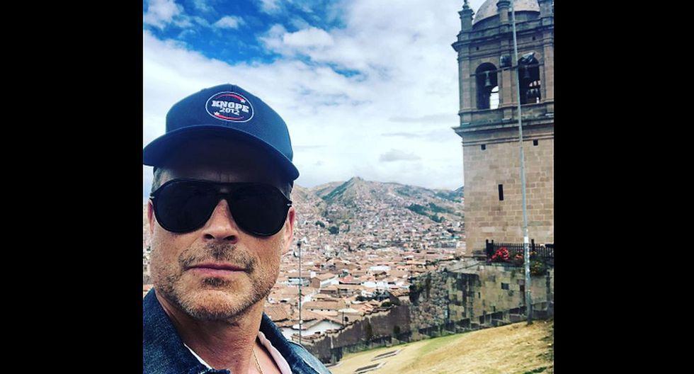 "Rob Lowe, protagonista de ""¿Te acuerdas de anoche?"", se encuentra en Machu Picchu. (Foto: @roblowe)"