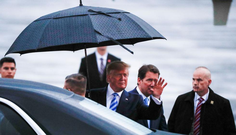Donald Trump llega a Osaka para participar en la cumbre del G20. (Foto: Reuters)