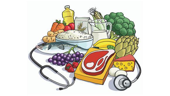 Reflexionamos sobre la importacia de una dieta saludable para evitar el sobrepeso y obesidad, dos factores de riesgo ante el coronavirus. (Ilustración de Mechaín)