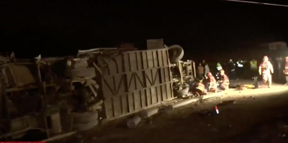 Chofer de bus se sacrifica para salvar a más de 30 pasajeros al vaciarse los frenos en Pasamayo. (Latina)