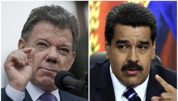 Las FARC sugieren que Juan Manuel Santos intervenga en el diálogo entre Nicolás Maduro y la oposición (AFP).