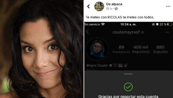 Un grupo llamado 'Beba Army' coordinó el bloque de la cuenta de Mayra Couto.