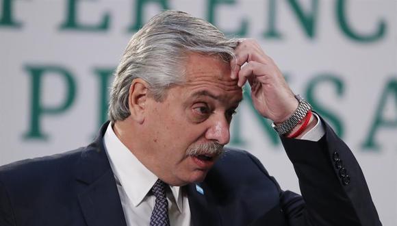 Alberto Fernández seguirá cumpliendo el aislamiento obligatorio y continuará bajo control médico. (Foto: EFE/José Méndez)