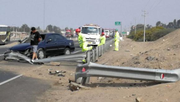 Trágico accidente en la Panamericana Norte. (Foto: Miguel Romero/RPP)