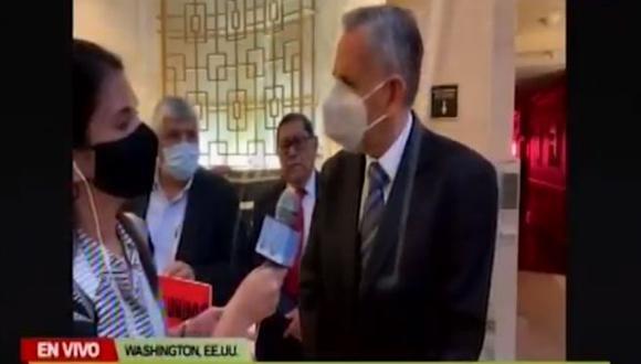 Pedro Francke evadió responder sobre la continuidad de Julio Velarde al mando del BCR. (Canal N)