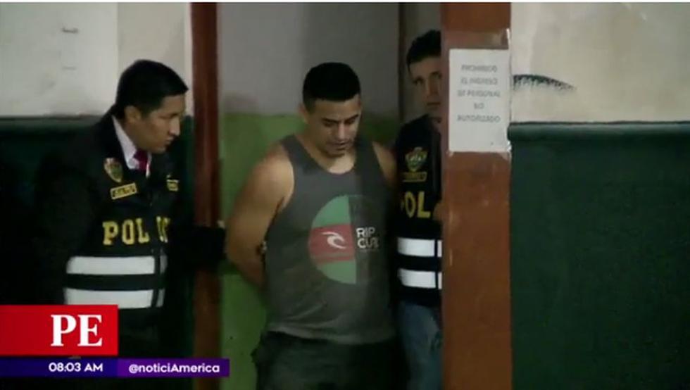 Vladimiro Ochoa fue detenido en San Martín de Porres. (América Noticias)