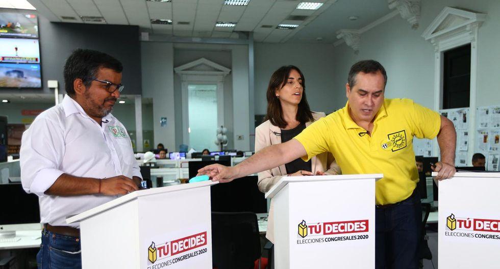 Debates para la TV abierta. (Foto: El Comercio/ Fernando Sangama)