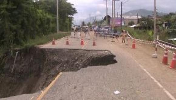 Área afectada tiene 10 metros de diámetro. (USI)