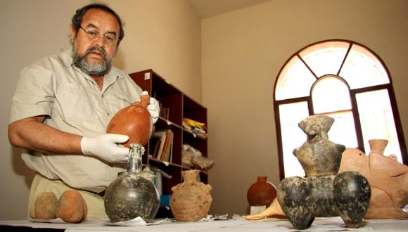 Ceramio de la cultura Lambayeque. (Fabiola Valle)