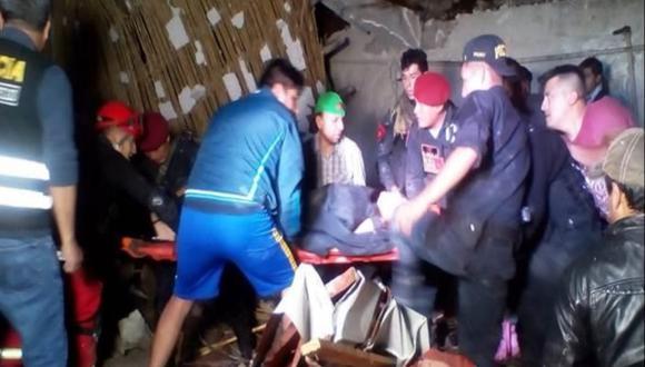 Publicaron lista de heridos por colapso de pared en un hotel de Abancay. (Foto: Indeci)