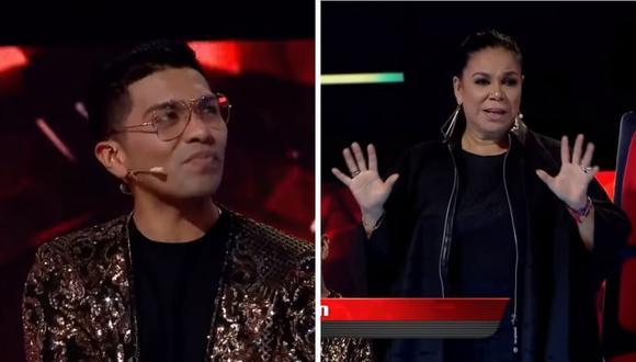 """Eva Ayllón propuso que Christian Yaipén sea entrenador en la siguiente temporada de """"La Voz Perú"""". (Foto: Captura YouTube)."""