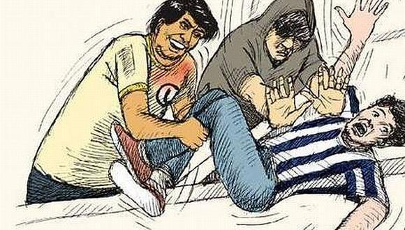 Hinchas de la 'U' fomentan la violencia con dibujo que alude a Walter Oyarce. (Facebook Trinchera \'U\' Norte La Barra Más Grande)