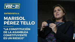 """Marisol Pérez Tello: """"La Constitución de la Asamblea Constituyente es un riesgo"""""""
