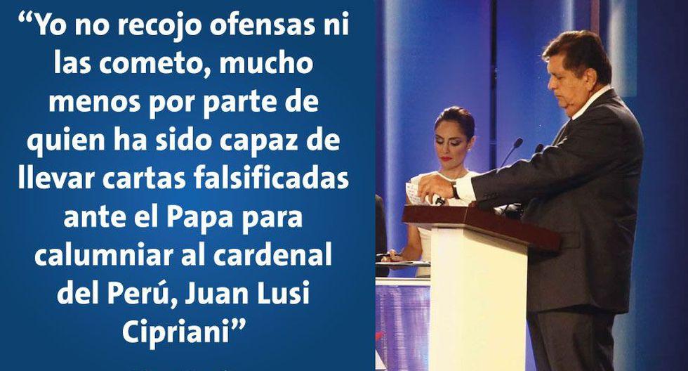 Las mejores frases que dejó el duelo entre Fernando Olivera y Alan García en el debate presidencial. (Perú21)