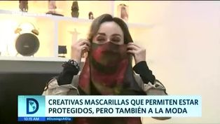 Peruanos utilizan mascarillas con estampados de moda