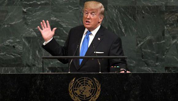 Donald Trump, presidente de EE.UU. (AFP).