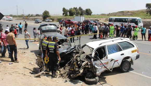 Los accidentes de tránsito son una de las principales causas de muerte en nuestro país dijo Chávez de Apeseg. (USI/Referencial)