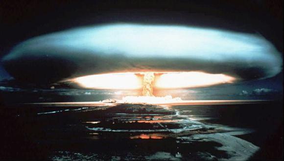 Explosión de una bomba atómica (Foto referencial: AP)