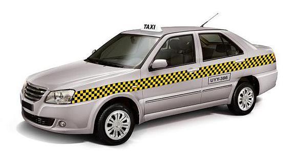 Así es la franja que deberán llevar los taxis en Lima. (MML)