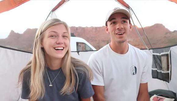 """Gabby Petito, de 22 años, y Brian Laundrie, de 23 años, estaban realizando un """"road trip"""" por Estados Unidos hasta que una discusión cambió los planes. (Foto: YouTube)"""