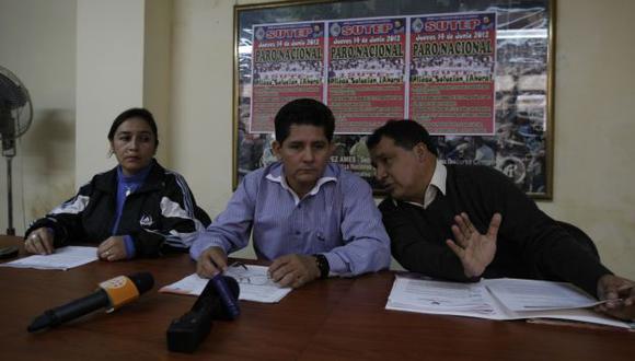 VÍA JUDICIAL. Ramírez dice que el Sutep ha iniciado acciones para que otras facciones no usen su nombre. (Rafael Cornejo)