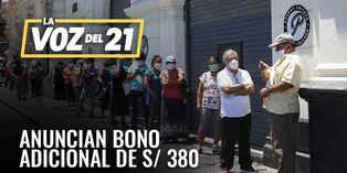 Coronavirus en Perú: Anuncian bono adicional de S/380