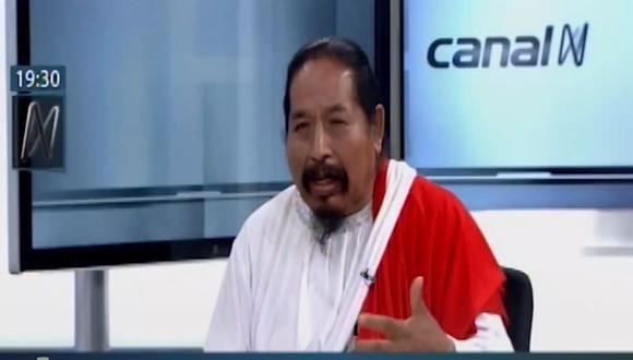 """Juan Noé Ataucusi aseguró que su hermano lidera un sector que está """"enquistado en la ambición"""" por el control del Frepap. (Captura/Video de Canal N)"""