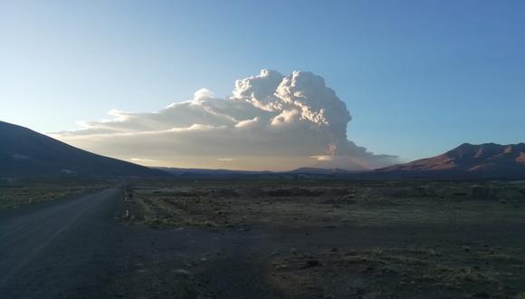 Dos explosiones y emisión de cenizas se registraron durante esta semana en Moquegua. (Foto: COEN)