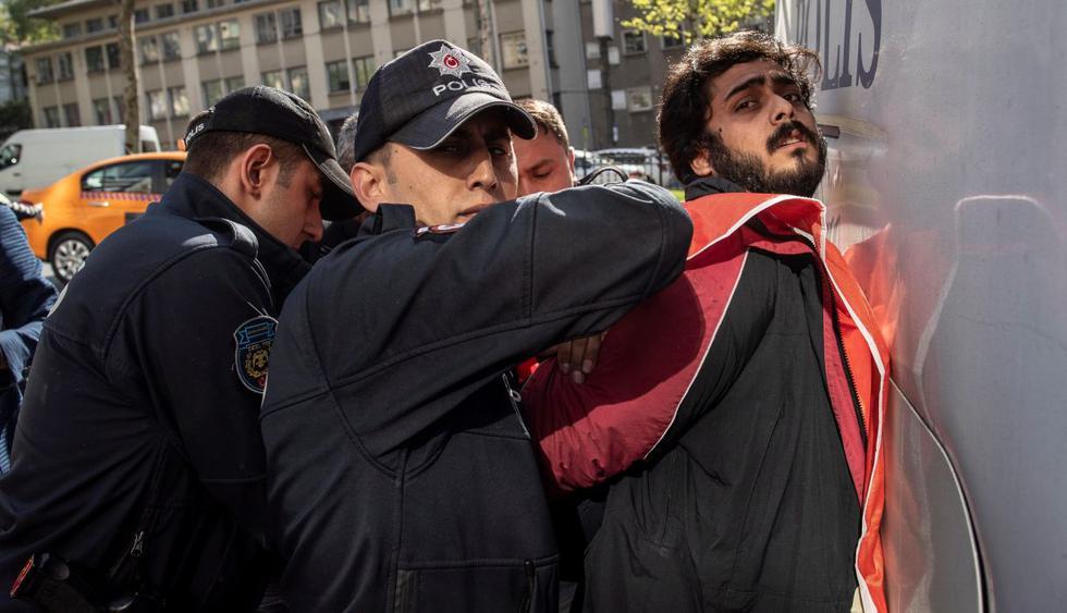 Más de 80 detenidos en Estambul en marcha por el 1 de mayo. (Foto: EFE)