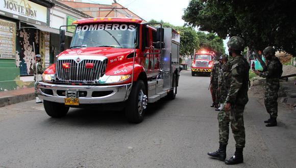 Un carro bomba explotó este martes en las instalaciones de la Trigésima Brigada del Ejército colombiano, ubicada en la ciudad de Cúcuta. (Foto: EFE/ Mario Caicedo)
