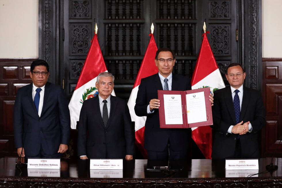 Martín Vizcarra no apoyará retorno a la bicameralidad aprobada por el Congreso. (Renzo Salazar/Perú21)
