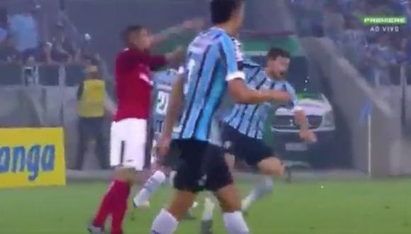 Paolo Guerrero fue amonestado en final del Campeonato Gaúcho. (Captura: YouTube)