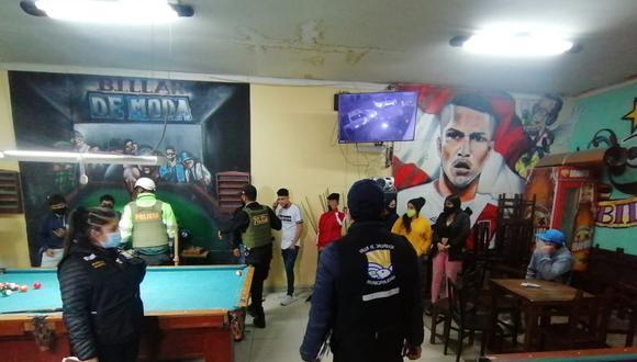 A los encargados del local se les impuso una multa de 5 UIT por poner en riesgo la salud pública. (Foto: Municipalidad de Villa El Salvador)