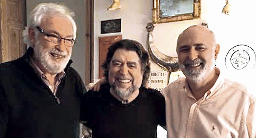 Pedro Coronado, Joaquín Sabina y Ricardo Lago en la Nochevieja de 2016.