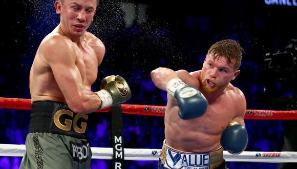 Imgánenes de la última pelea de Canelo Álvarez en noviembre dle 2019. (Foto: AFP)
