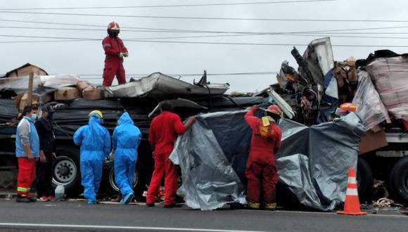 Cañete: un fallecido dejó choque entre tráilers en Asia (Foto: Fernando Zavala)
